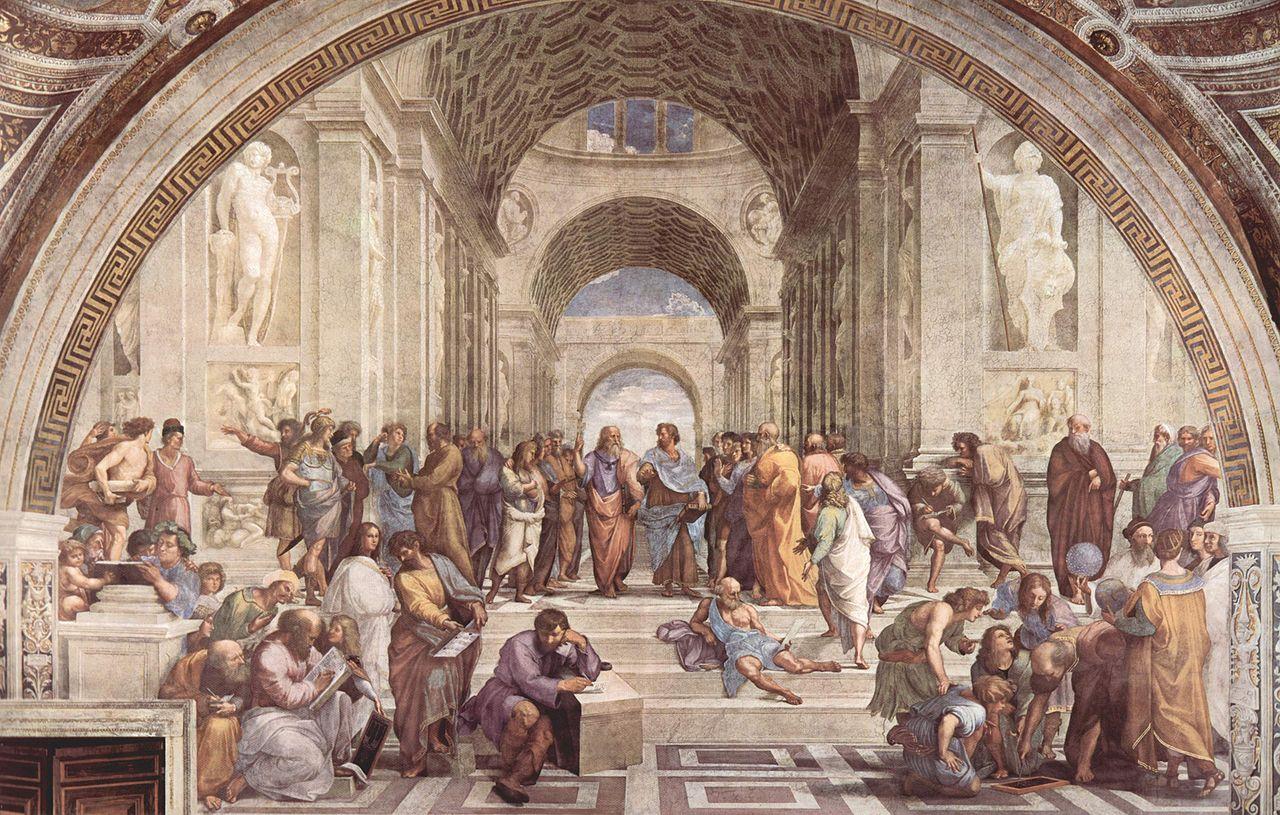 Philosophie, die Schule von Athen, Fresko