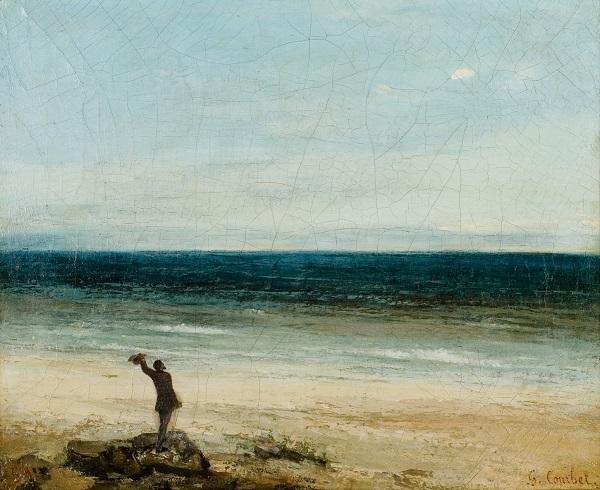 Philosophie, Gustav Courbet, Mann am Strand