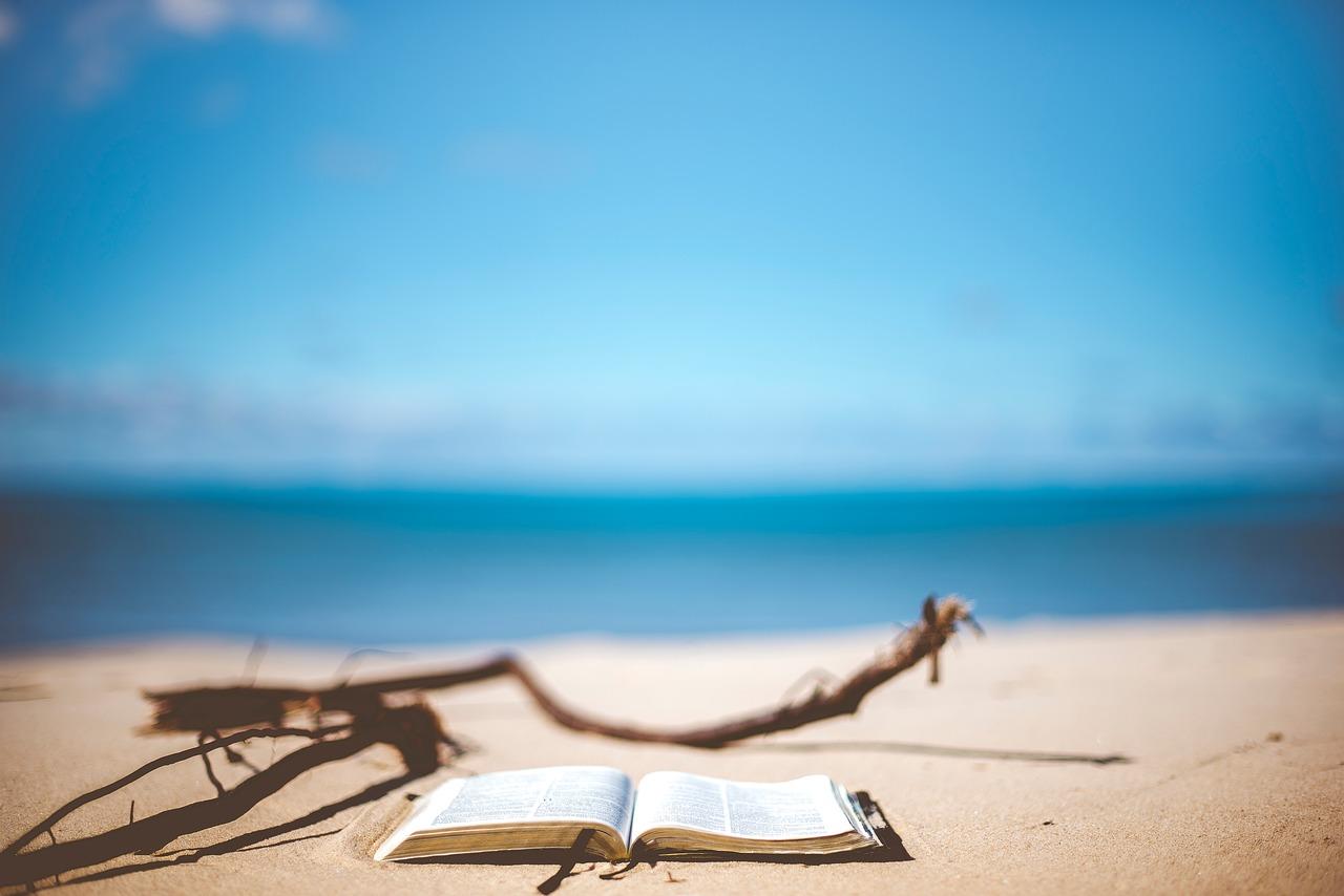 Philosophie, Strand, Buch
